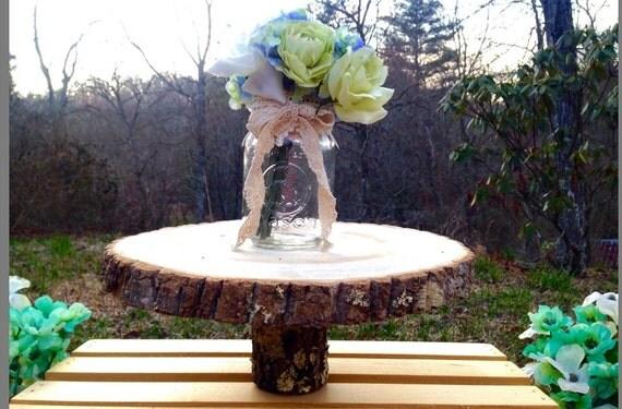 Cake stand pedestal centerpiece rustic wedding
