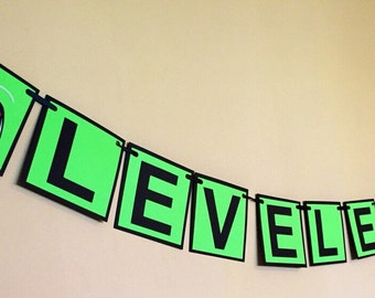 Xbox video game leveled up birthday banner