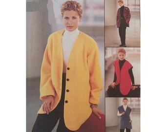 Uncut McCall's 9565, Jacket, Vest & Pants, Sizes 8, 10, 12, 3-Hour, 1990s Fashion Sewing Pattern