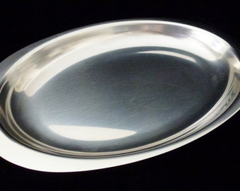 Vintage Broms 18/8 Stainless Steel Oval Tray/Platter Made in Sweden