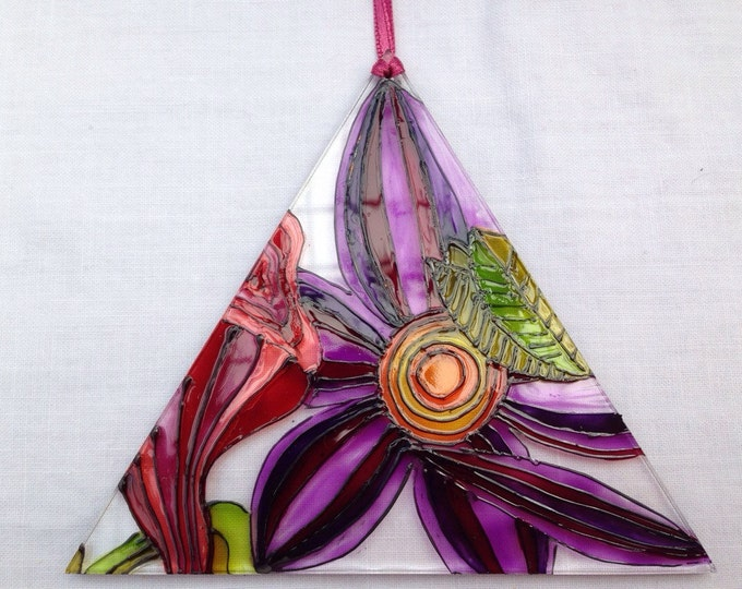 Abstract flower suncatcher