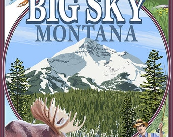 Big Sky, Montana - Scenes (Art Prints available in multiple sizes)