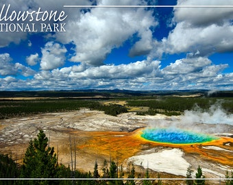 Yellowstone National Park - Grand Prismatic Pool (Art Prints available in multiple sizes)