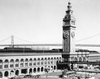 San Francisco, CA Ferry Building Waterfront Photograph (Art Prints available in multiple sizes)