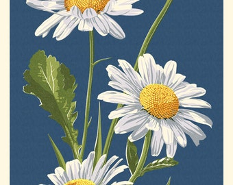 Daisy - Letterpress (Art Prints available in multiple sizes)