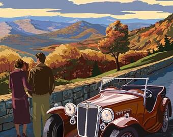 Arkansas - Outlook and Sunset Scene (Art Prints available in multiple sizes)