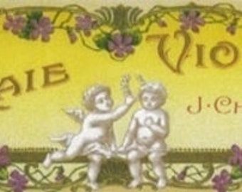 Vraie Violette Soap Label (Art Prints available in multiple sizes)