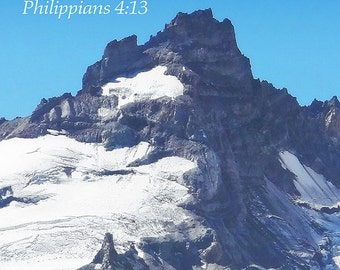 Philippians 4:13 - Inspirational (Art Prints available in multiple sizes)