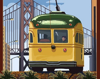 San Francisco, California Streetcars (Art Prints available in multiple sizes)