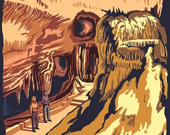 Marengo Cave - Yellow (Art Prints available in multiple sizes)