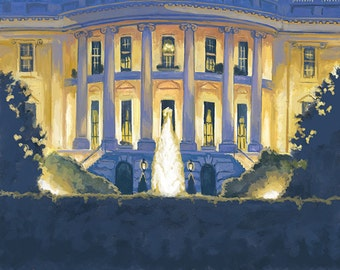 White House - Washington DC (Art Prints available in multiple sizes)