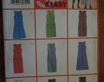 Butterick 6334, size 12-16, petite, misses, womans, jumper, dress, UNCUT sewing pattern, craft supplies