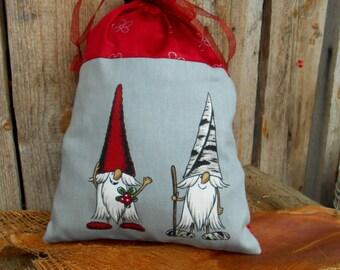 Christmas Gift Sack Gnome Elf Tomte Christmas Gift Wrap Nordic Christmas Swedish Christmas Santa Sack Scandinavian Christmas Gift Bag