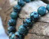 Teal Paxiuba Bead Necklace - On Sale - Save 15.00
