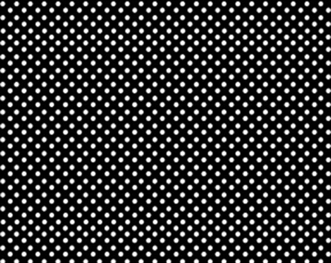 One Yard Green Farms - On the Dot in Black / White - Cotton Quilt Fabric - by Kanvas for Benartex Fabrics 5174-12 (W2890)