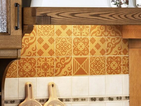 tile decals set of 15 tile stickers sweet orange