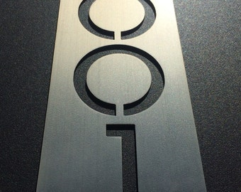 Custom stainless house number plaques. (Plate only)