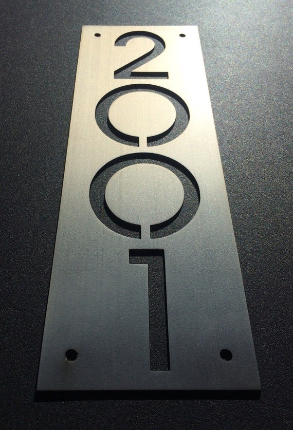 Custom stainless house number plaques plate only - Decorative house number signs ...