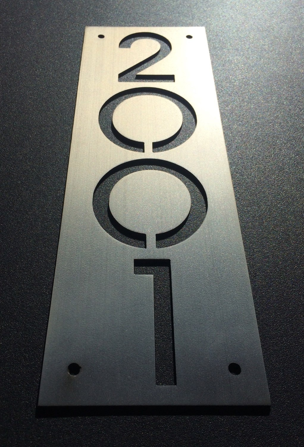 Custom Stainless House Number Plaques Plate Only
