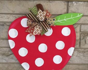 Polka dot apple door hanger