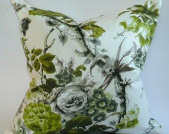 Schumacher Alessandra Branca Elizabeth in Acid Green Pillow Cover