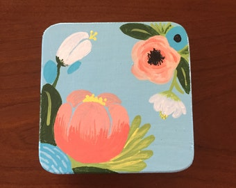 Blue Floral Prayer Box