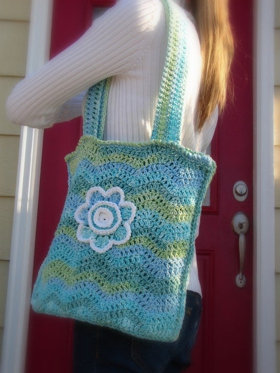 crochet pattern Chevron Stripes Shoulder Bag crochet pdf