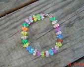 Rainbow colored bracelet female OOAKHandmade Jewelry