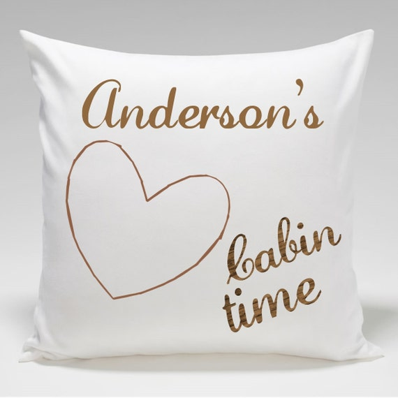 Decorative Pillows Personalized : Personalized Cabin Throw Pillow Cabin Time Decorative Pillow