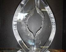 Van Teal Signed Lucite Modernist Sculpture