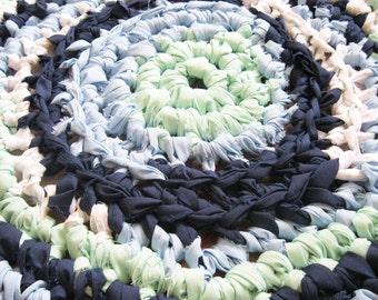 Shabby Chic Home Decor   Boy Nursery Decor   Braided Rag Rug   Hand Crocheted Items Small Area Rugs   Handmade Rug