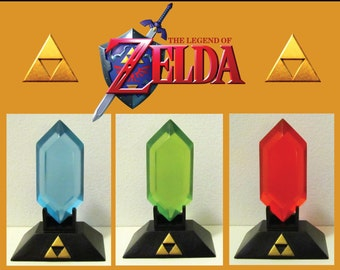 The Legend of Zelda : Rupee with Display Stand - Blue Green Red Black Silver