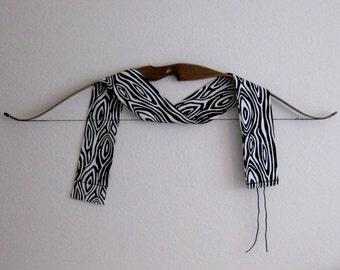 Archery Bow Sock Sleeve Case - Black and White Tree Bark