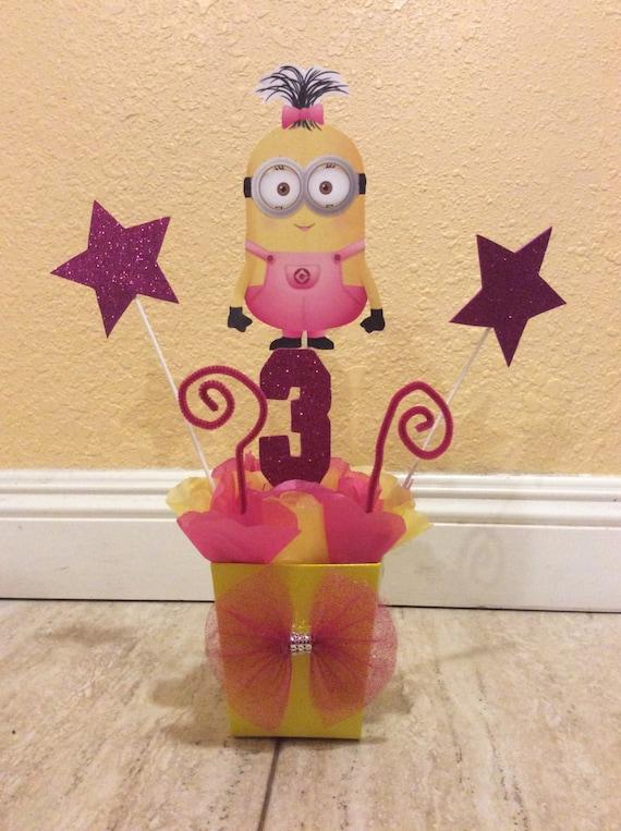 girl minion birthday party centerpiece first birthday decoration ideas centerpiece ideas for baby's first birthday