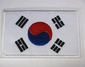 """Iron-on """"Korea flag"""", applique, application (P86)"""