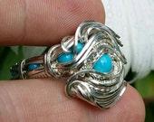Size 9.5 Sleeping Beauty Turquoise Ring