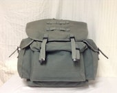 Free Ship X Large Green Canvas Backpack