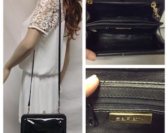 Sereta Patent Leather Trimmed Purse,bag, Shoulder Bag