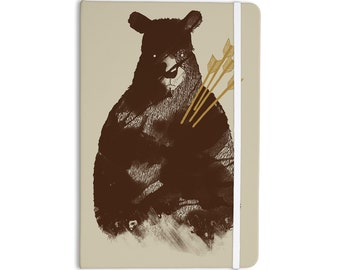"""KESS InHouse -   Tobe Fonseca """"In Love"""" Brown Bear Everything Notebook -Great for School,Home,Office,Desk and more!"""