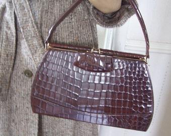 Houghton and Co Very Rare 1930's Stunning Leather Handbag
