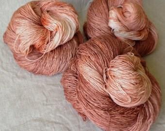hand-dyed Merino silk yarn, made from natural raw materials, Marrakesh