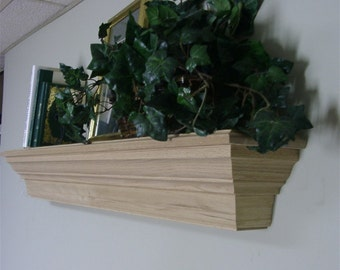 Solid OAK  Wooden Fireplace MANTEL SHELF Customize to Meet Your Needs