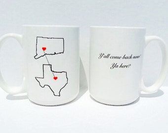 State mugs, miss you mug, gifts for her, coffee mug, best friend gift, coffee cup, custom mug, personalize mug, gifts for him, travel mug