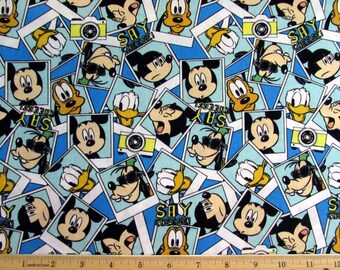 Disney Fabric Mickey Fabric Say Cheese Packed Photographs From Springs Creative