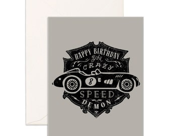 Speed Demon Greeting Card
