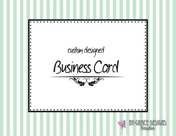Custom Business Card Design for your Business, Organization or Etsy Shop Professional Design Branding