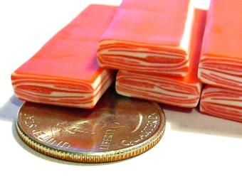 Mini Bacon Polymer Clay Cane 1pc