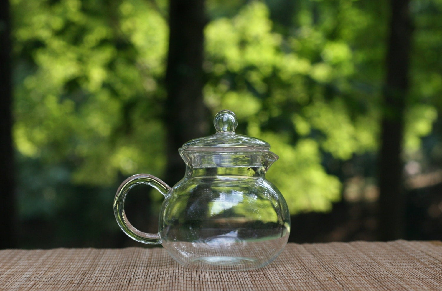 Small Vintage Glass Pitcher With Lid Gravy Sauce Pitcher