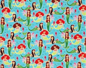BTHY Michael Miller Sea Beauties Mermaid Fabric amazing Oop WOW