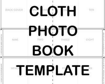 Cloth photo book TEMPLATE for SPOONFLOWER cut & sew fat quarter baby book panel